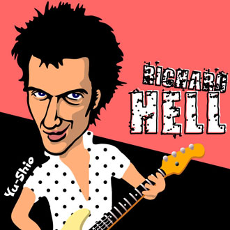 Richard Hell caricature