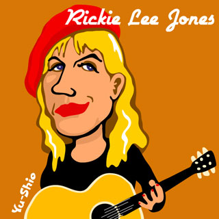 Rickie Lee Jones caricature