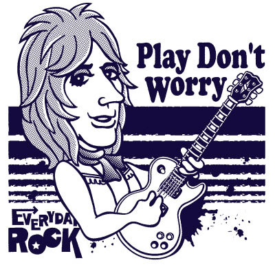 Mick Ronson EverydayRock T Shirt Caricature