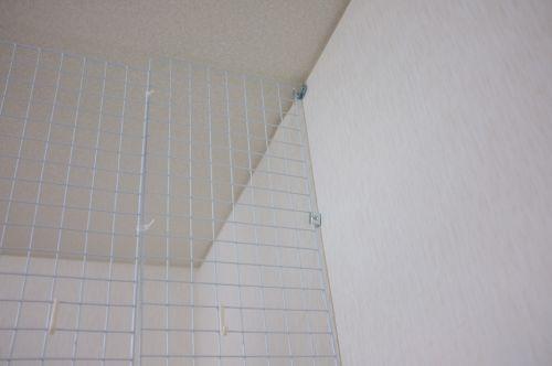 ワイヤーネット壁取り付け部分2