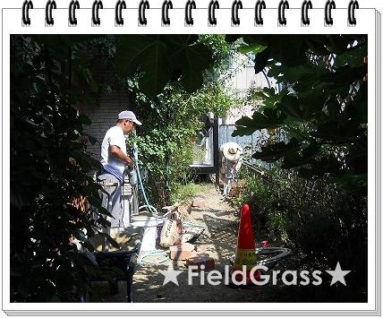 モルタル 練る 花壇 レンガ