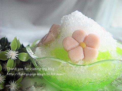 花咲くかき氷
