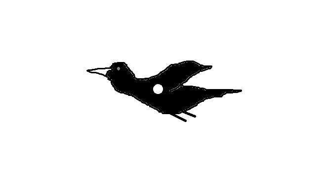 死亡の川沿いで南から北へ飛び去った二羽の不思議な鳥の姿