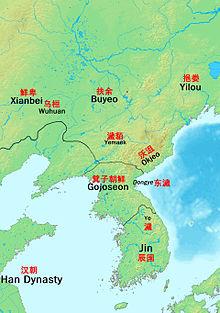 BC数世紀ころの朝鮮
