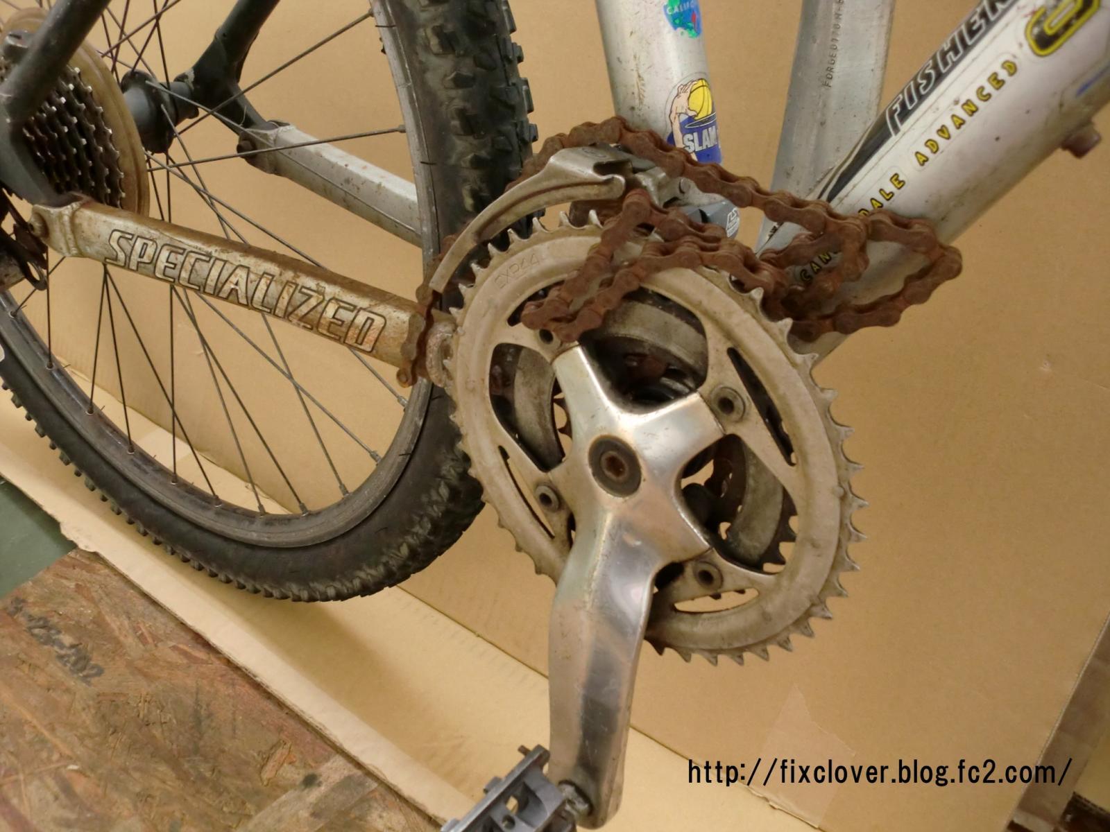 自転車の 自転車 クランク 異音 : クランクに体重を乗せると ...