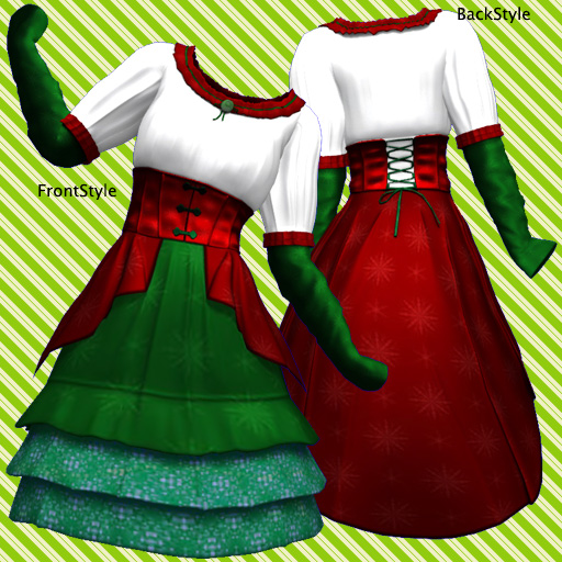 Secondlife Mesh christmasDress & C-string