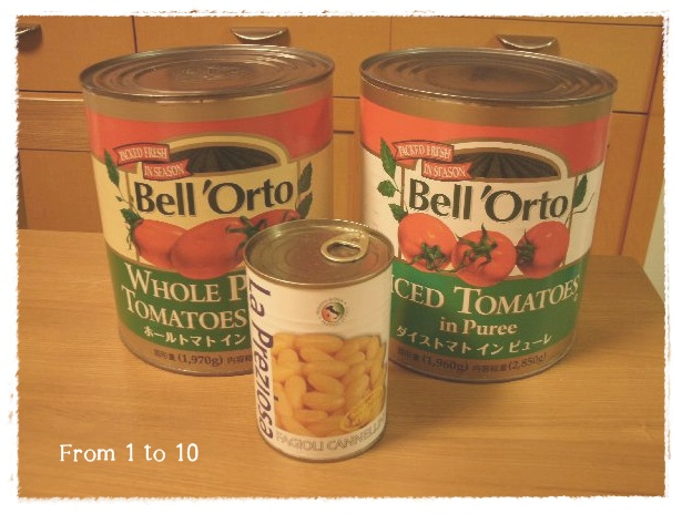 大きいトマト缶