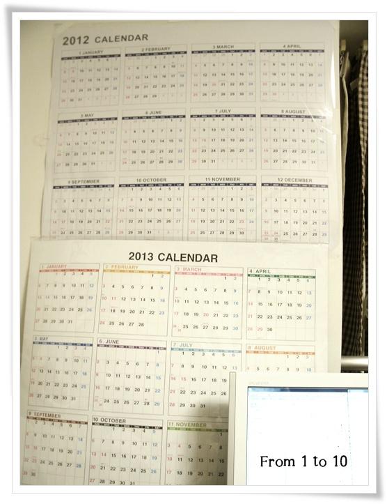 2013カレンダー①