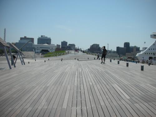 横浜港大さん橋ホ-ル くじらのせなか2