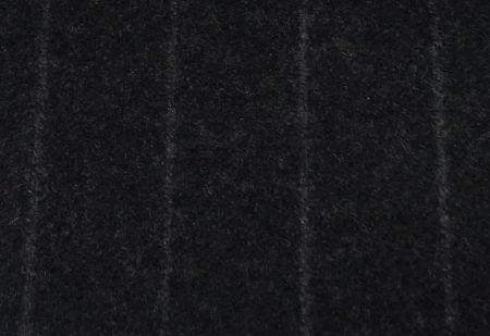 英国FOXBROTHERS(フォックスブラザーズ)のオーダースーツ用フランネル・ダークグレーの太いストライプ