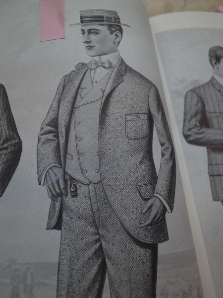 昔のアメリカ人の服装の絵