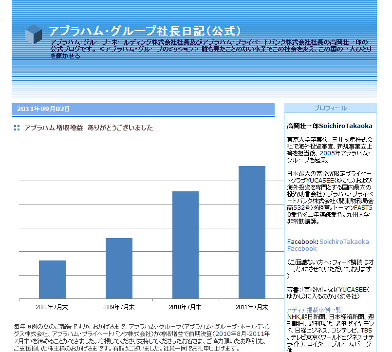 増収増益グラフ