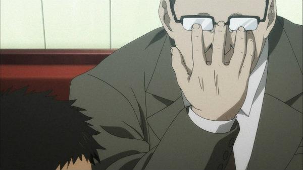 21 ブックマン メガネに手