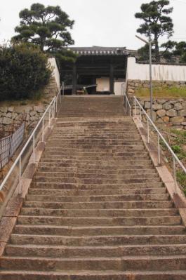 お寺の石段