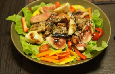 サンマとイチジクのサラダ2