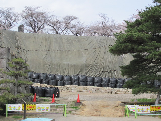 小峰城修復平成25年4月10日j