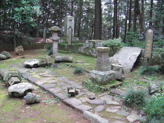 黒羽城大関家墓所被害2