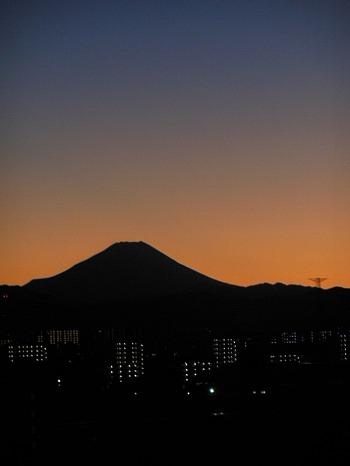 夕映え富士2