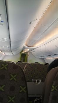 長崎へ向かう機内
