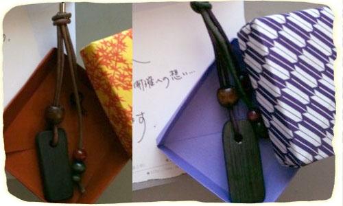 2011.9.13.キャッシーさんたちへ竹炭ストラップ500x