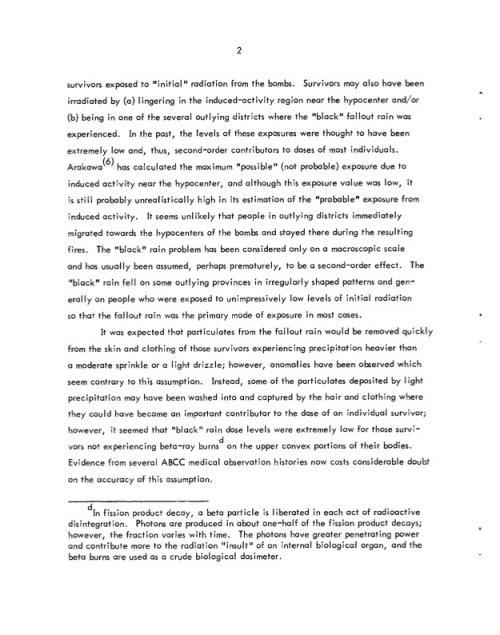 オークリッジリポート4ExaminationOfA-BombSurvivorsExposedToFalloutRainAndComparisonToSimilarControlPopulations-ORNL-TM-4017