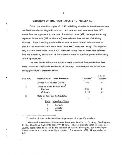 オークリッジリポート5ExaminationOfA-BombSurvivorsExposedToFalloutRainAndComparisonToSimilarControlPopulations-ORNL-TM-4017