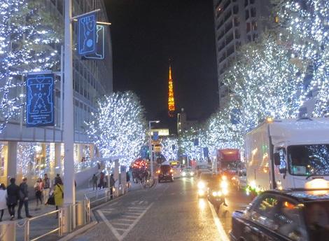 クリスマスイルミネーション東京タワー