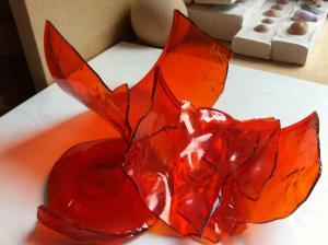 スペインのガラス片