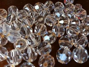 cut crystal glass beads
