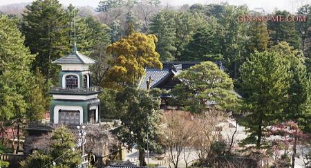教室からの眺め 尾山神社