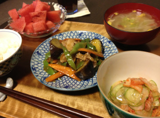 Aug27_肉野菜あんかけ炒め