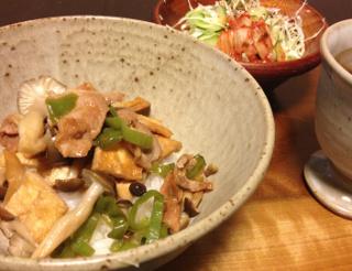 Aug31_豚肉と油揚げ丼