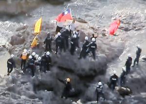 香港活動家尖閣上陸