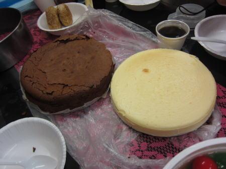 ガトーショコラとチーズケーキ