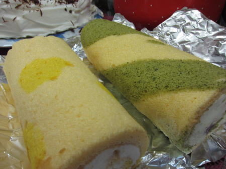 ランディーママ作ロールケーキ