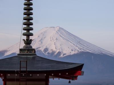 富士山と五重の塔(2)