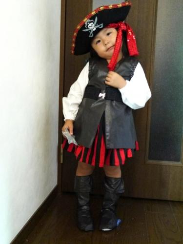 海賊 パイレーツ 子供 ハロウィン 手作り ハンドメイド handmade halloween pirates