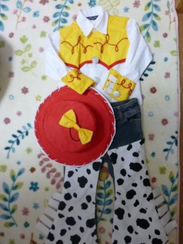 TOY STORY トイストーリー コスプレ コス 衣装 手作り ハンドメイド 作り方 ディズニー handmade Jessie 全身