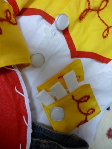 ボタン TOY STORY トイストーリー コスプレ コス 衣装 手作り ハンドメイド 作り方 ディズニー handmade