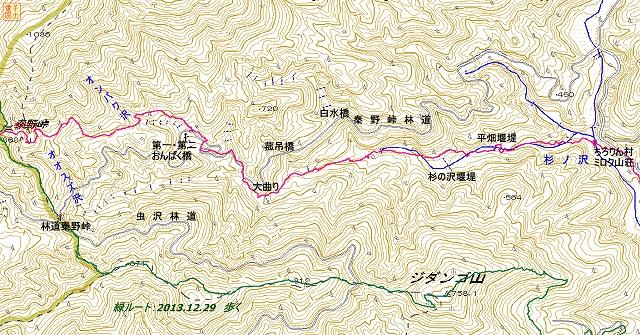 杉ノ沢径路