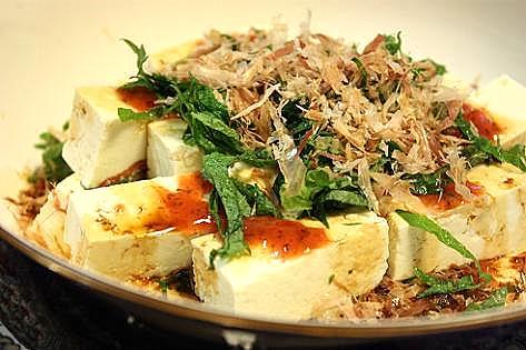 豆腐と梅のサラダ♪