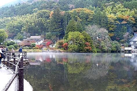 霧の金鱗湖♪