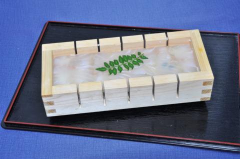 ヒラメ押し寿司