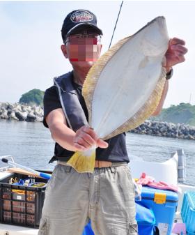 ヒラメ釣り上げ.2