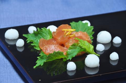 鮭の柚子こしょう和え2