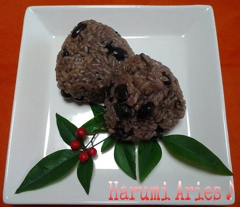 黒豆ご飯のおむすび2