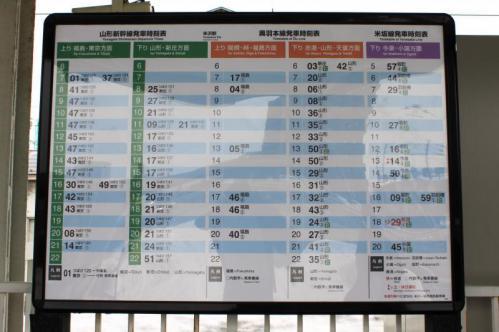 米沢駅時刻表