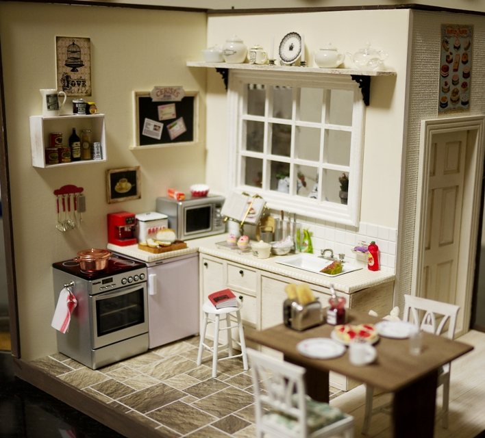 Mini Kitchen Room Box: 1000+ Images About Dollhouse Kitchen & Nook Ideas On
