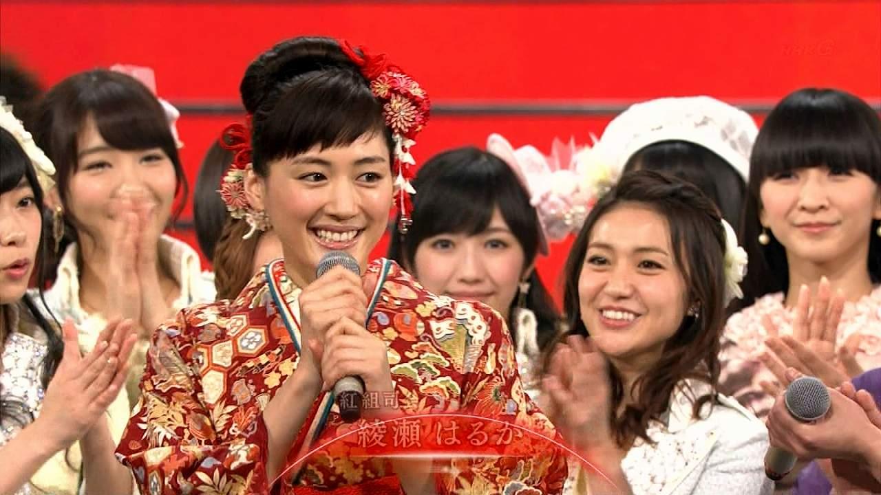 2013年紅白歌合戦、司会の綾瀬はるか