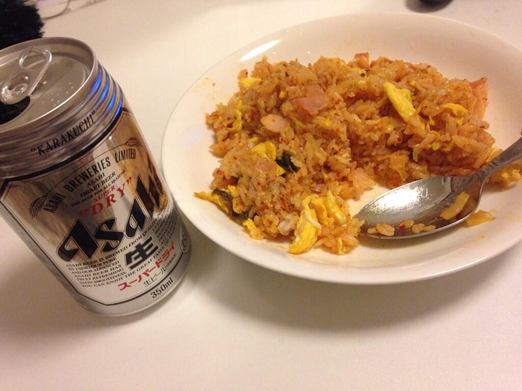 希美まゆの食生活、キムチチャーハンとビール
